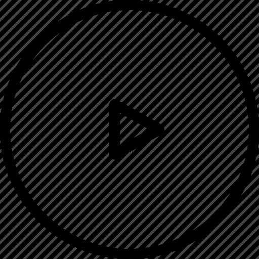 arrow, circle, play, right icon