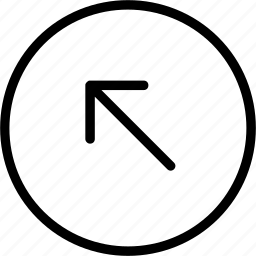 arrow, circle, left, plain, up icon