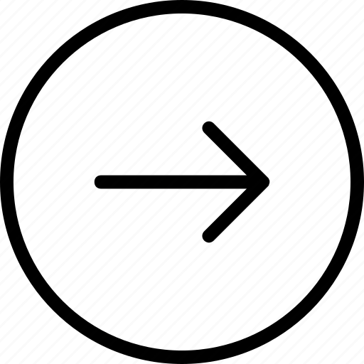 arrow, circle, plain, right icon