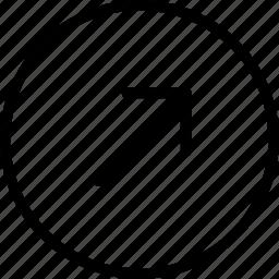 arrow, circle, plain, right, up icon