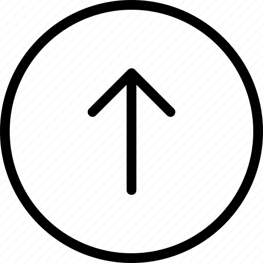 arrow, circle, plain, up icon