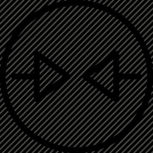 arrow, circle, left, right icon