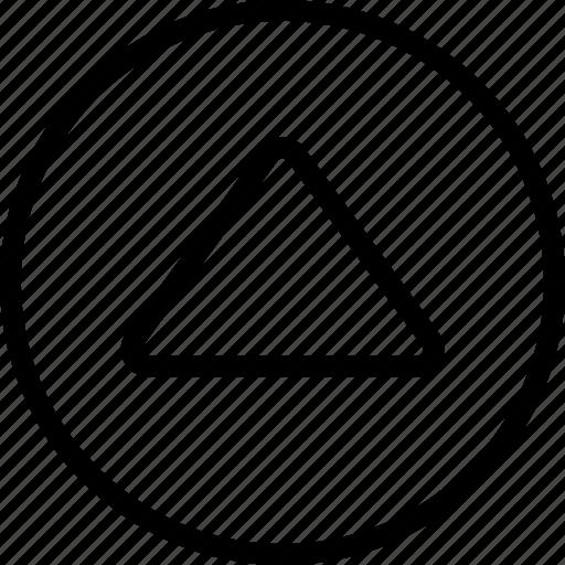 arrow, big, circle, up icon