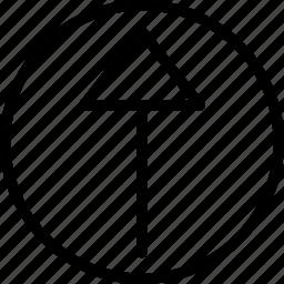 arrow, circle, plain, up icon