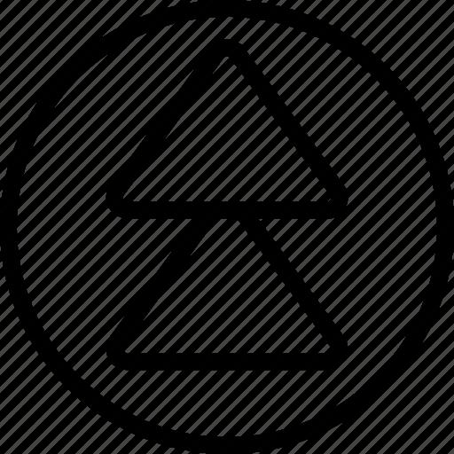 arrow, circle, double, up icon