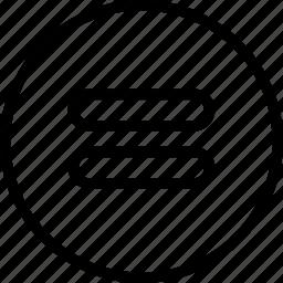 circle, equal, math icon