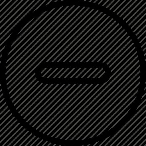 circle, math, minus, remove icon