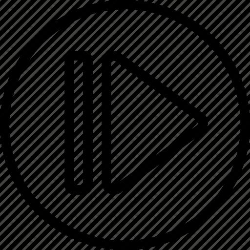 arrow, circle, next icon
