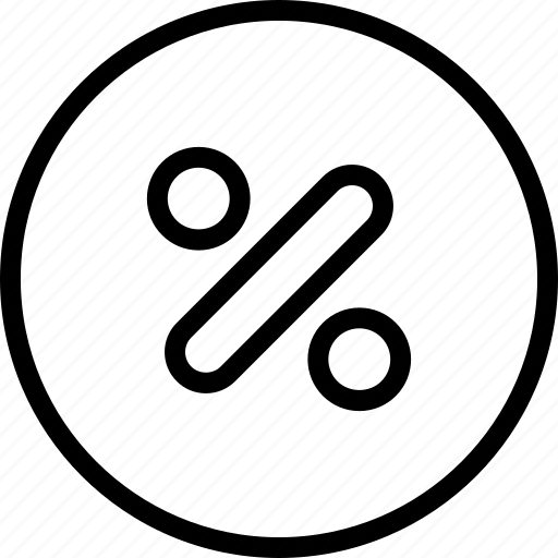 circle, math, percent icon