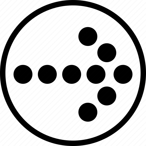 arrow, circle, dotted, right icon