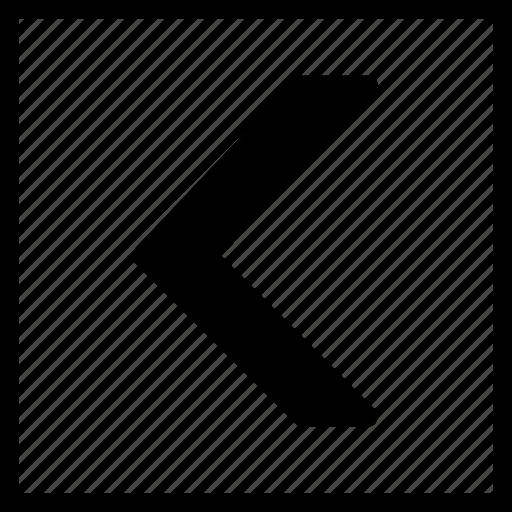 arrow, left, square icon