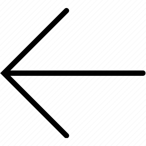 arrow, left, plain icon