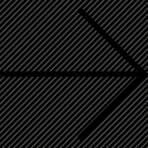 arrow, plain, right icon