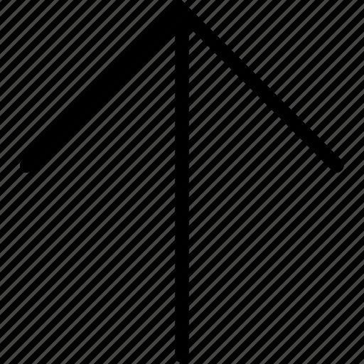 arrow, plain, up icon