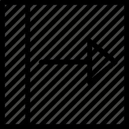 arrow, drag, right, slide, square icon