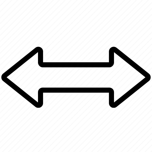 arrow, bidirection, bolded, left, right icon
