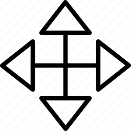 arrow, move, plus icon