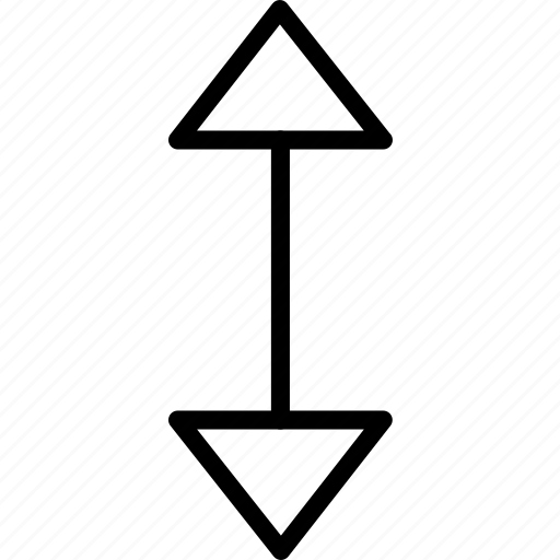 arrow, down, resize, up icon