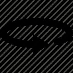 arrow, ellipse, orbit, rotate, watchkit icon