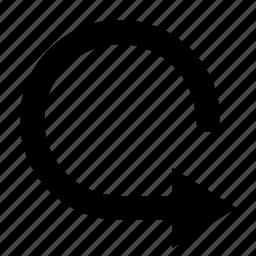 arrow, rotate, round, watchkit icon