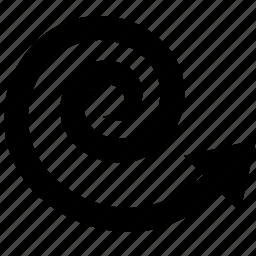arrow, coil, corkscrew, rotate, spiral, watchkit icon