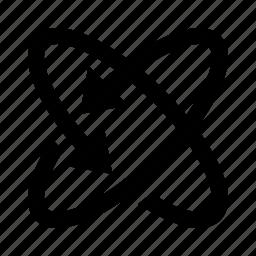 arrows, axis, orbit, rotate, watchkit icon