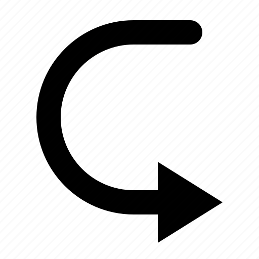 arrow, move, return, u turn, watchkit icon