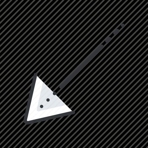 arrow, arrows, corner, left, low icon