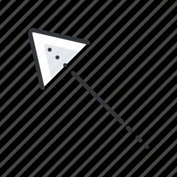 arrow, arrows, corner, left, top icon