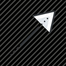 arrow, arrows, corner, right, top icon