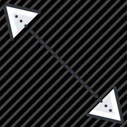 arrow, arrows, left, low, right, top icon