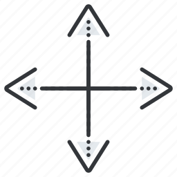 arrow, arrows, direction, directions, line icon