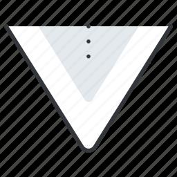 arrow, arrows, down, line, pointer icon