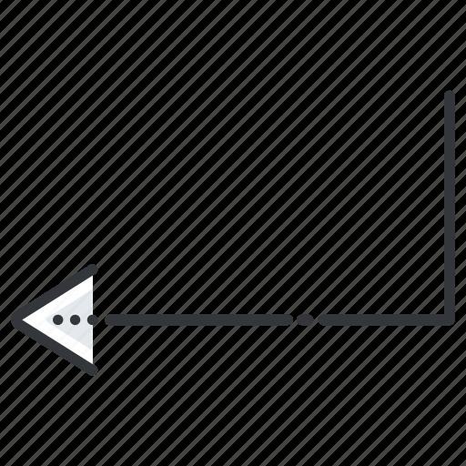 arrow, arrows, enter, line, pointer icon