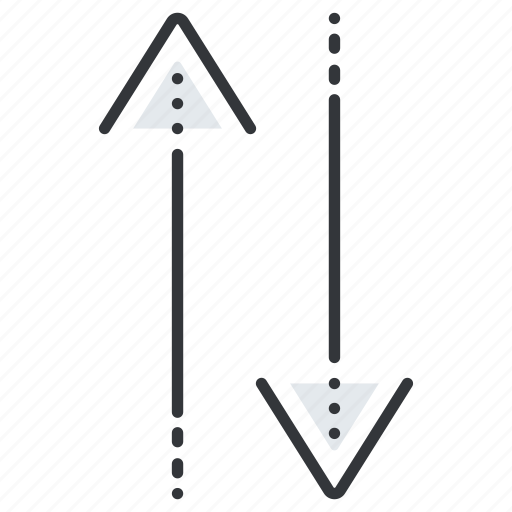 arrow, arrows, exchange, line, pointer, pointers icon