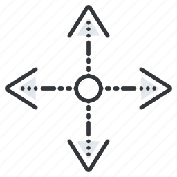 arrow, arrows, expand, line, pointer, pointers icon