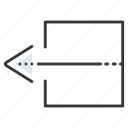 arrow, arrows, extract, left, line, pointer icon