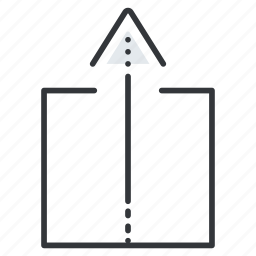 arrow, arrows, extract, line, pointer, up icon