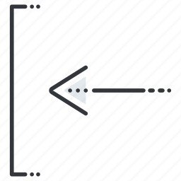 arrow, arrows, insert, left, line, pointer icon