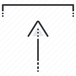 arrow, arrows, insert, line, pointer, up icon