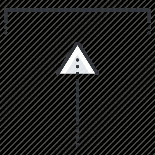 arrow, arrows, insert, line, pointer, up icon