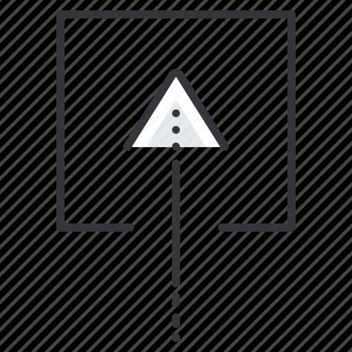 arrow, arrows, insert, line, square, up icon