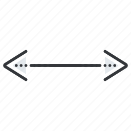 arrow, arrows, left, line, pointer, right icon