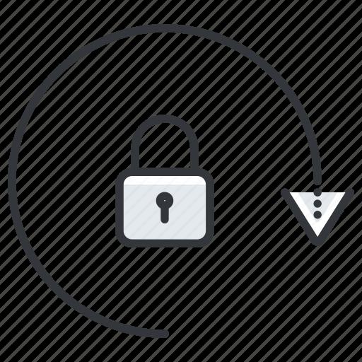 arrow, arrows, lock, security icon