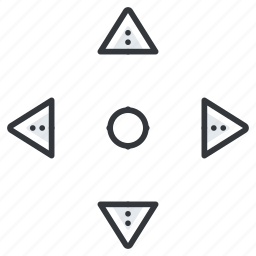 arrow, arrows, down, left, move, pointer, up icon