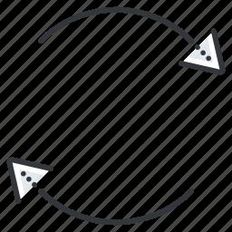arrow, arrows, line, refresh, turn icon