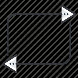 arrow, arrows, media, multimedia, replay icon