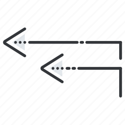 arrow, arrows, direction, left, roads icon