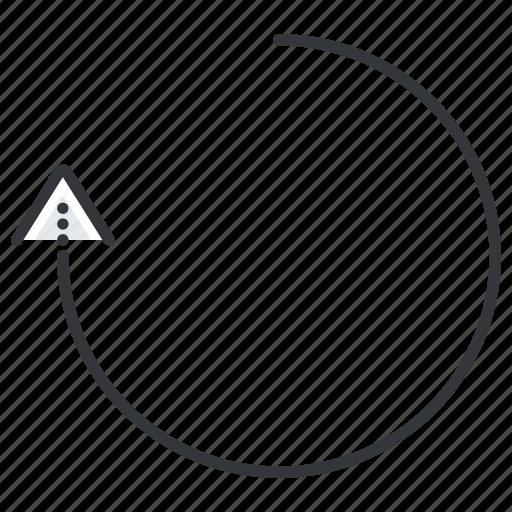 arrow, arrows, line, refresh, rotate, turn icon