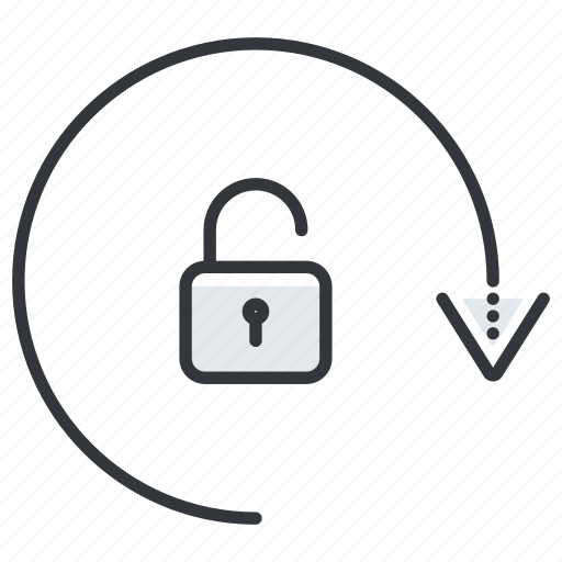 arrow, arrows, security, unlock icon